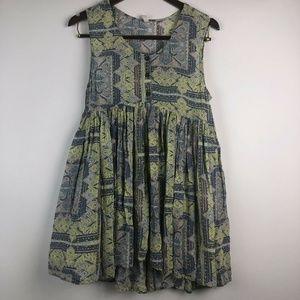 Free People Sleeveless Babydoll Rayon Tunic Dress